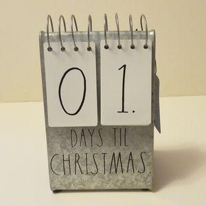 Brand new Rae Dunn # Days till Christmas Calendar